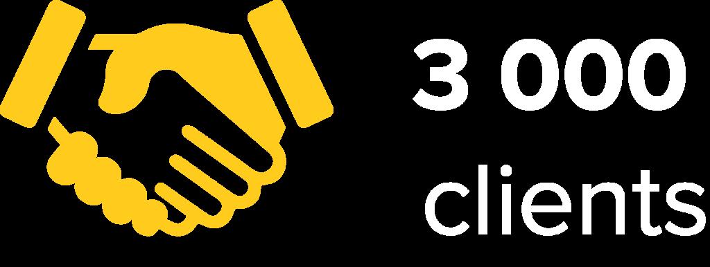 3 000 clients